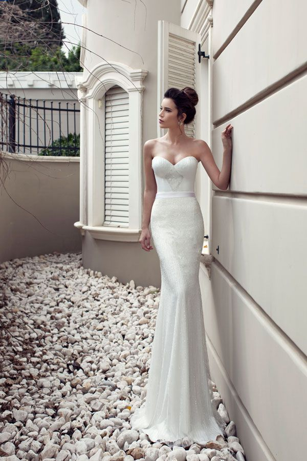 Julie Vino- 2013 Bridal collection- Geometrically beaded wedding dress