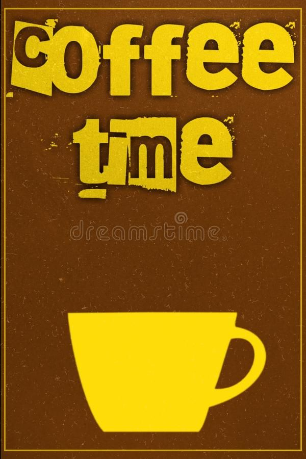 Download Coffee poster stock illustration. Image of advert, brochure - 106476510