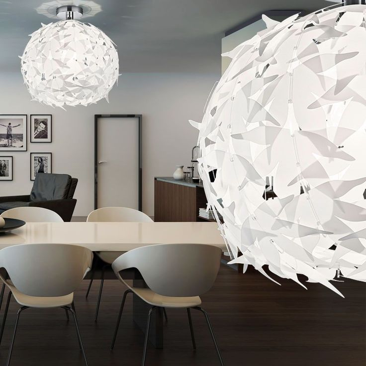 ... LED 7W luminaire plafond suspension design lampe boule blanc moderne