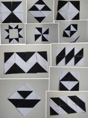 Every quilt: Los triángulos de medio cuadrado / HST half square triangles