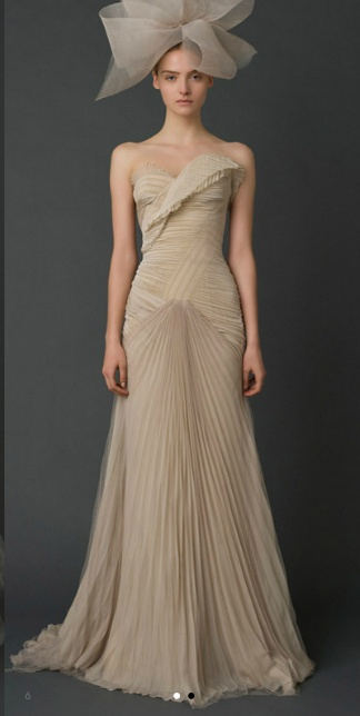 when I get married it will be in this Vera Wang dress