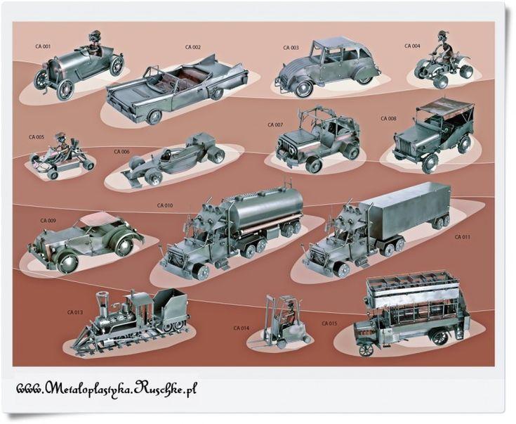Metalowe modele - Samochody, samoloty, motory itd.