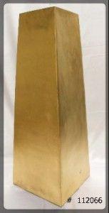 Pedestal Modern Gold  42 inch tall  10x10 top  112066