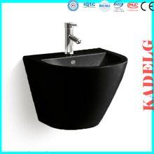 azulejos de la pared lavabo de color negro unidad tocador del baño Occidental…
