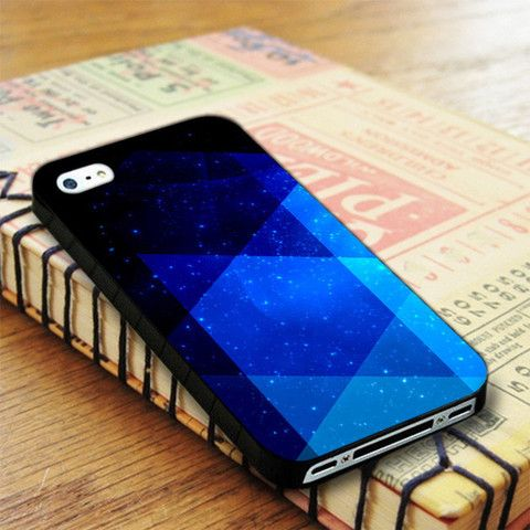 Triangle Pattern Blue Galaxy iPhone 4|iPhone 4S Case