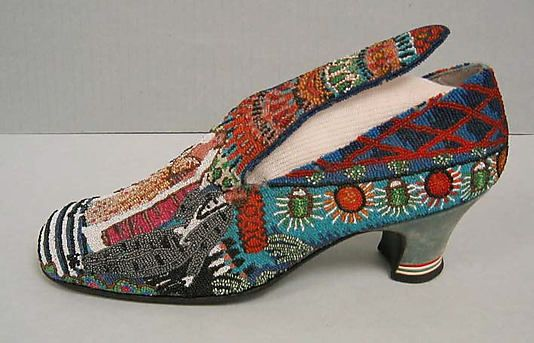 """Le Bal"" Paul Poiret designed beaded shoes 1924"
