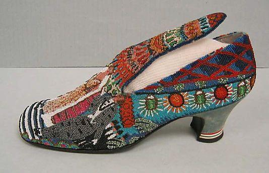 """""""Le Bal"""" Paul Poiret designed beaded shoes 1924"""