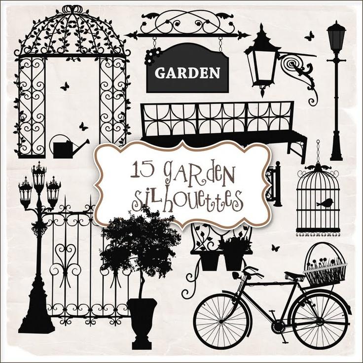SUPER FREEBIES Blog: Freebies Kit of Garden Silhouettes