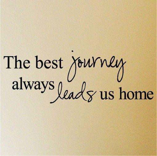 The best journey always leads us home    vinyl by VinylLettering, $11.99