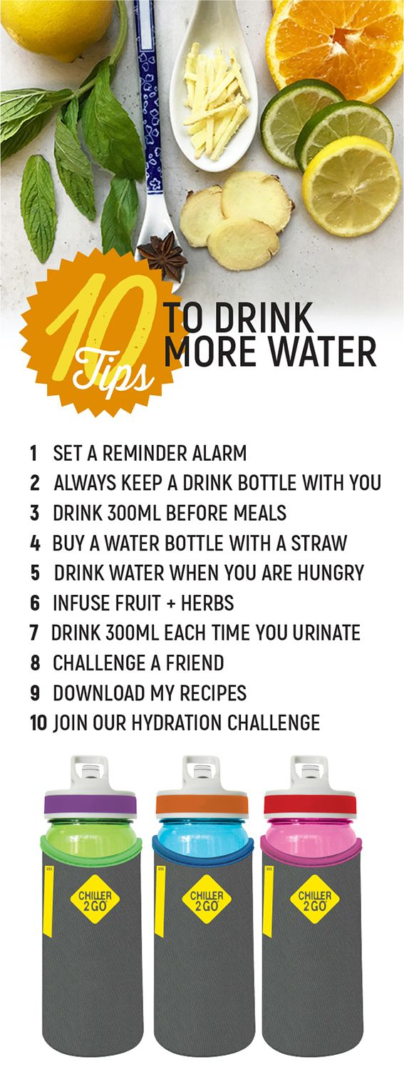 10 Tips to Drink More Water So you know you should drink more water, but are struggling to drink 8 glasses a day?  Check out these 10 Tips and join our Hydration Challenge for support and freebie downloads.