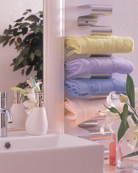 Σπίτι και κήπος διακόσμηση: 50 Έξυπνες ιδέες για το πώς να φυλάσσεται τις πετσέτες στο μπάνιο