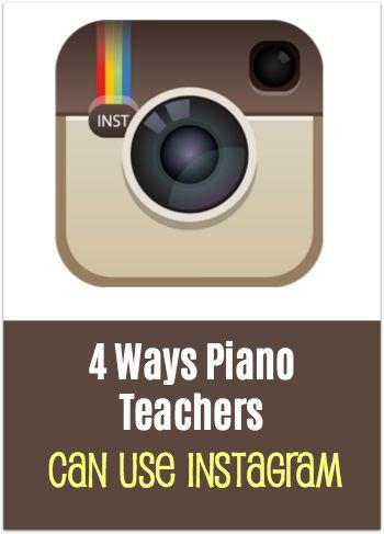 4 fun ways piano teachers can use the instagram app in their studio #PianoTeaching #PianoStudio