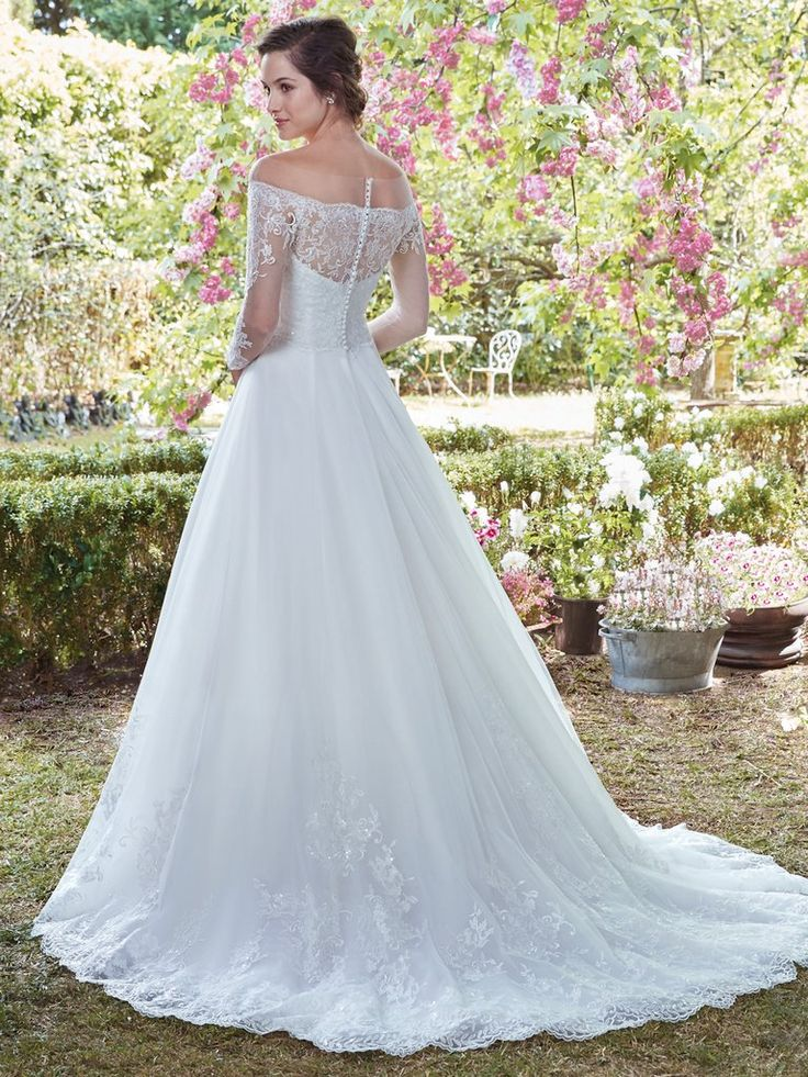 The 829 best Long Wedding Dresses images on Pinterest | Bridal ...