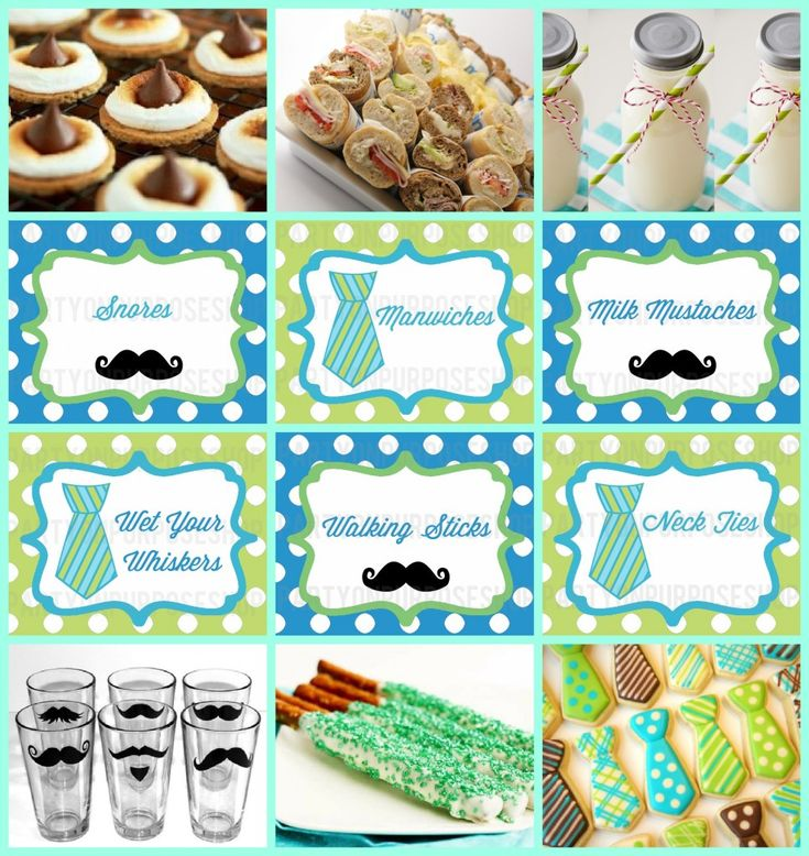 Little Man Mustache Bash Party Week: Food and Drink | Party on Purpose