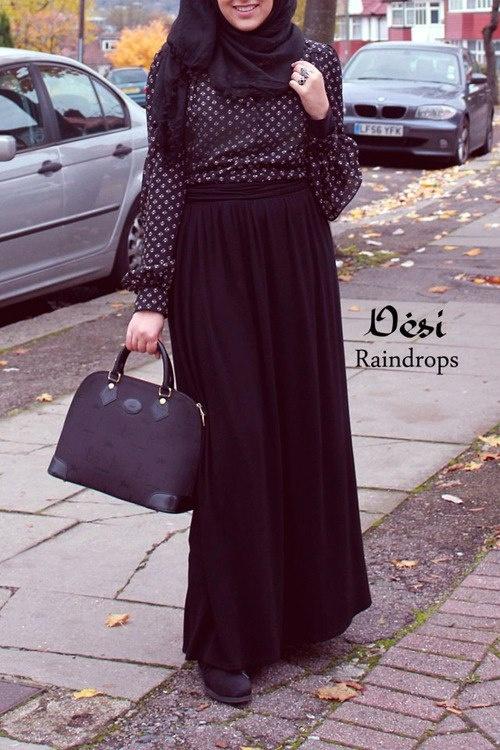 Black Outfit #Hijab ❤ hijab style