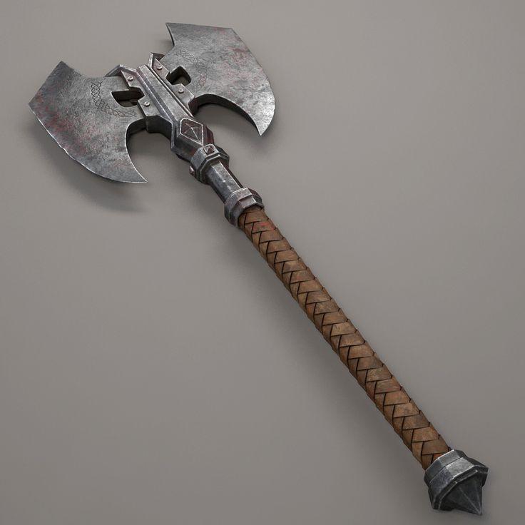 medieval axe 3d obj