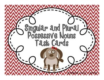 FREEBIE Singular and Plural Possessive Nouns Task Cards