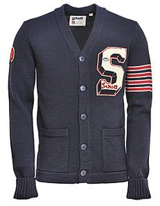 Letterman Sweaters came before letter jackets. They were usually worn fairly large and had stripes for the number of years the letter is worn. There would be a star or symbol on the letter to distinguish the captains.