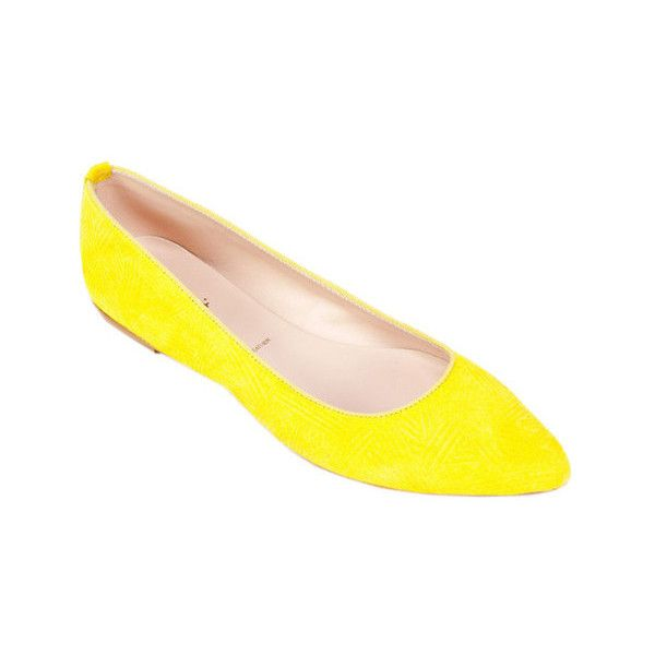 Women's Summit White Mountain Kamora Flat (2 110 UAH) ❤ liked on Polyvore featuring shoes, flats, ballet flats, casual, ballerina pumps, leather ballet flats, leather flats, yellow ballet flats and ballet flat shoes