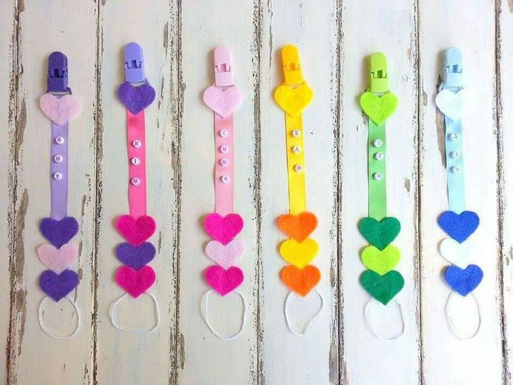 Customized Pacifier Clip, Felt Pacifiers, Dummy Clips Baby With Name, Dummy Clips, Pacifier Clips With Name, Heart Pacifier Clips by PinkAndBlueSugar on Etsy