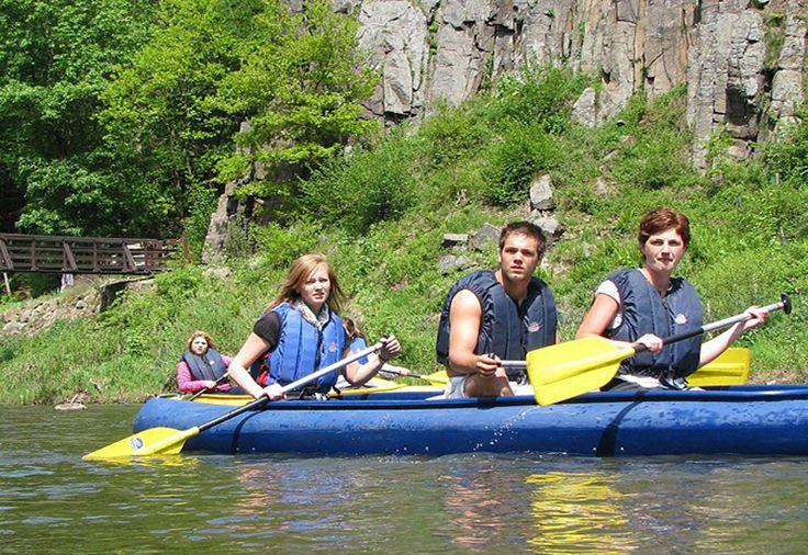 Czech Adventures event - Relaxing canoe trip passing amazing rocks