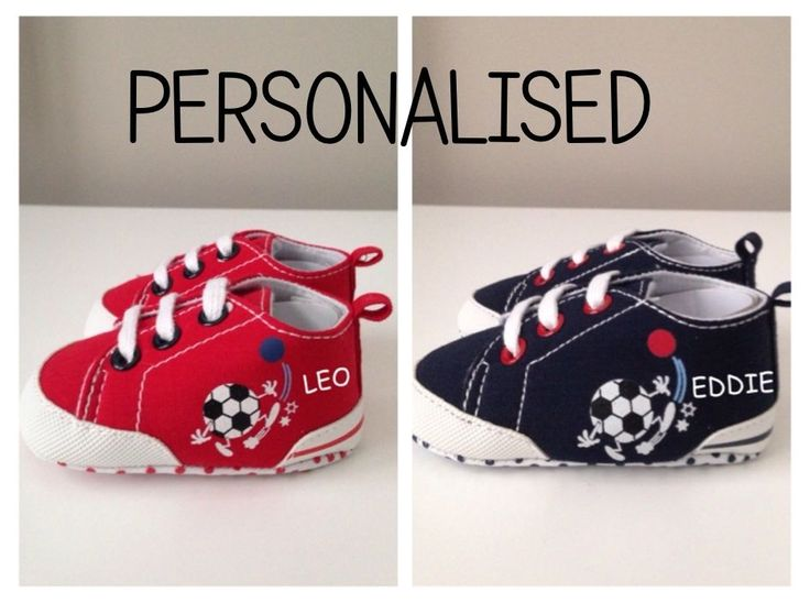 Fantastic PERSONALISED babies FOOTBALL shoes/booties UNIQUE CHRISTMAS PRESENT www.millymollymorley.co.uk