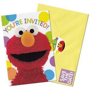 1065 - Sesame Street Invitations. Pack of 8 www.facebook.com/popitinaboxbusiness