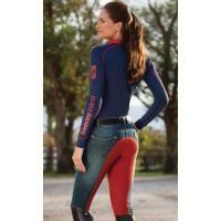 pantalon d'équitation jean femme - fond peau