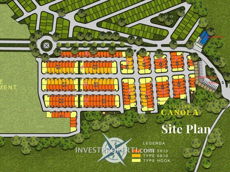 Siteplan cluster Canola Parkville Serpong