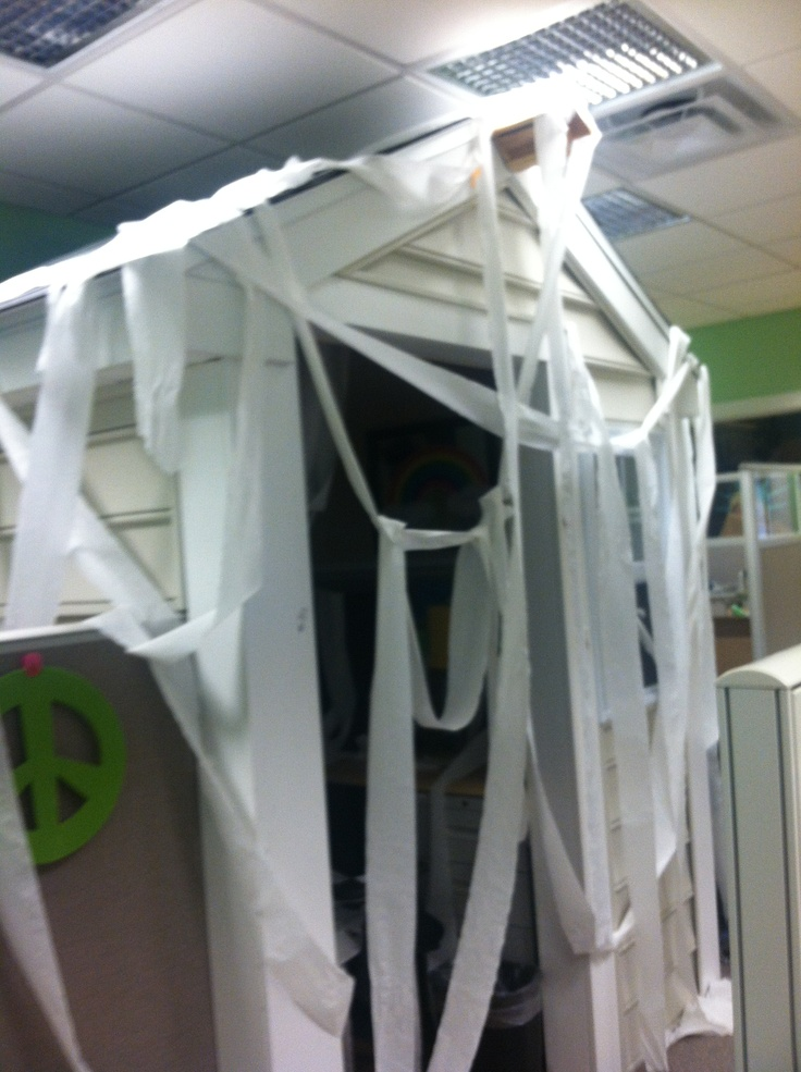 Halloween Means Tp In Houses Luckily We Have A Cube House In The Office Prank Office Cube Cool Office Cube