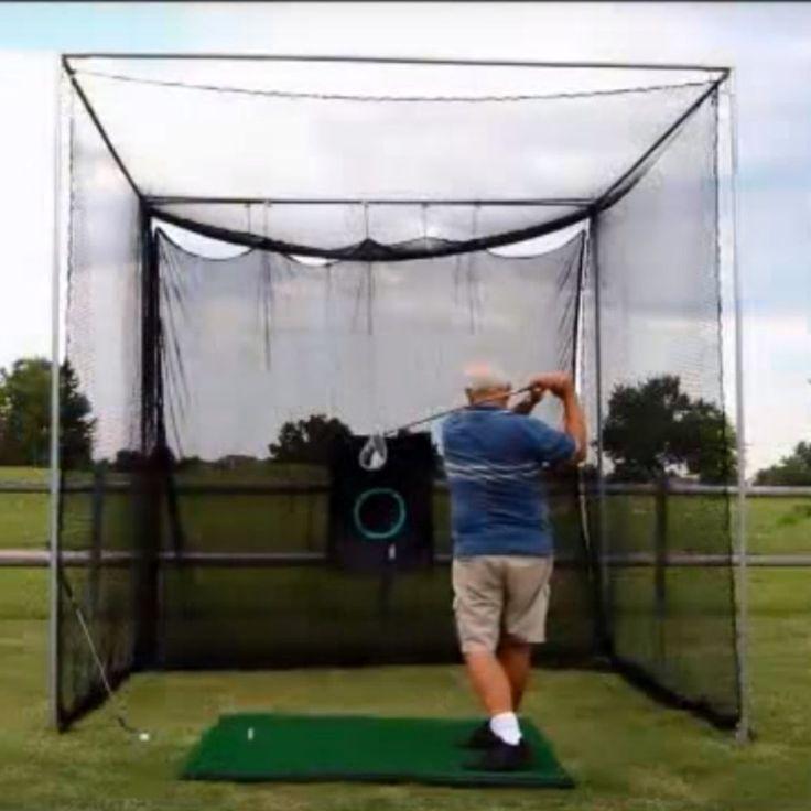 Golf Net Indoor Outdoor 10x10 Driving Practice Netting DIY Frame Corner Cage Kit #Cimarron #GolfNet