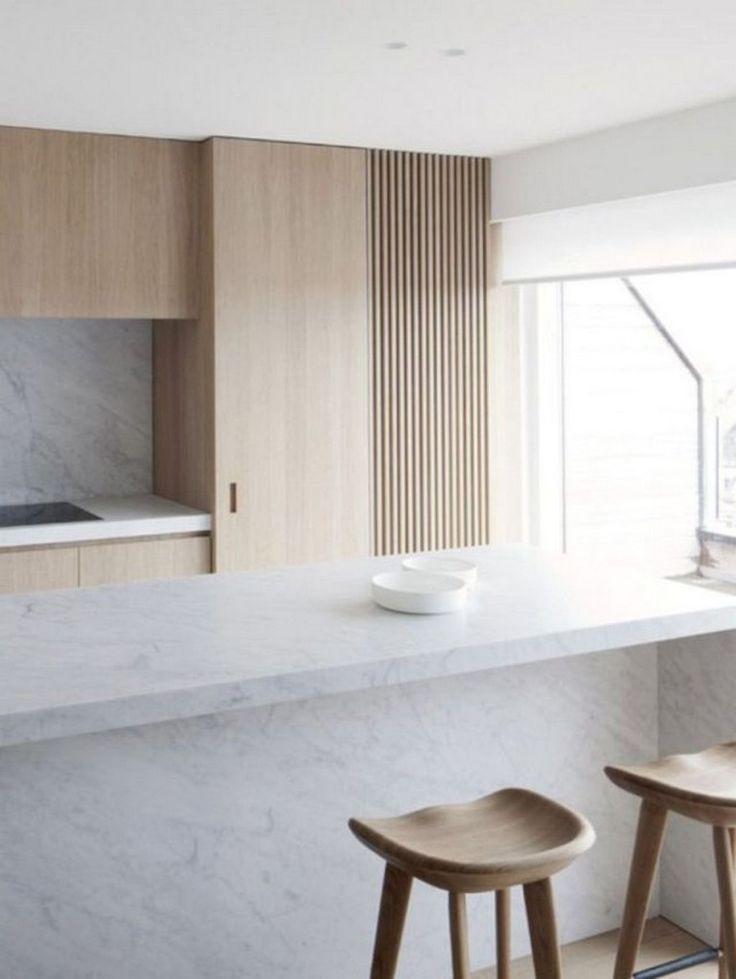 65 wunderschöne minimalistische Küche Dekor und Design-Ideen