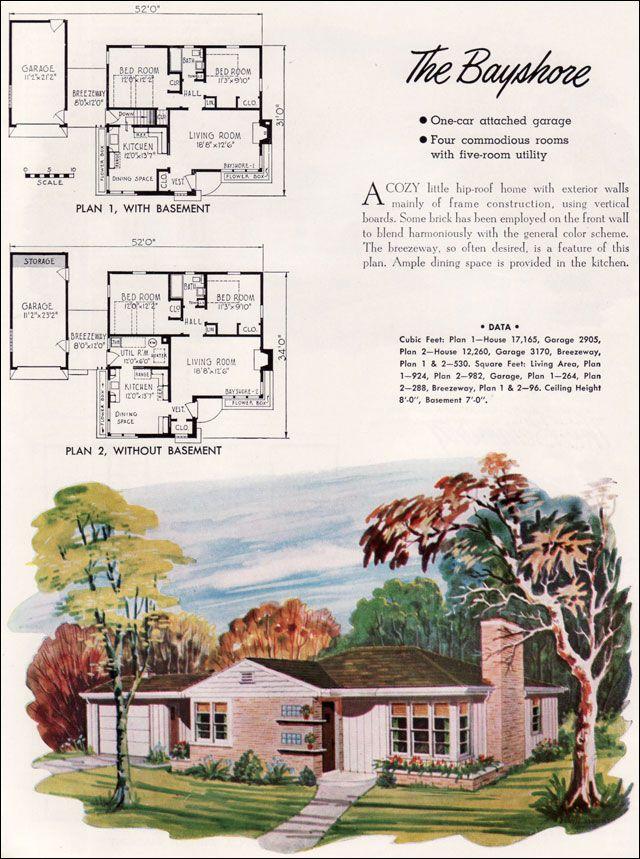 38 best mid century floor plans images on pinterest | vintage house