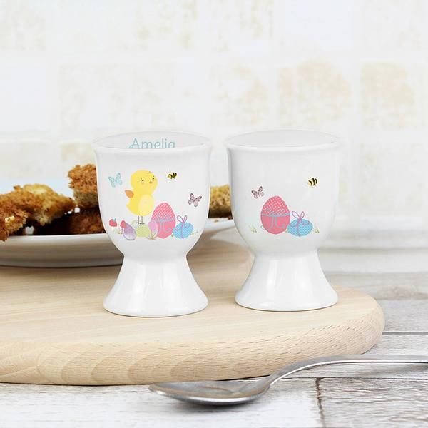 Personalised Easter Meadow Chick Egg Cup - The Hut Market - Personalised Gift Shop