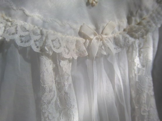 Pretty Lace on a christening gown