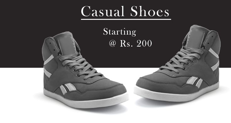 Largest Range of Men's Casual ‪#‎Footwear‬. Price at Rs 200.  >> http://hytrend.com/men/shoes/casual-shoes.html