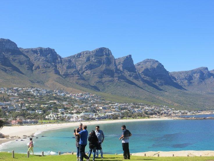 View of the 12 Apostles mountain range from Clifton - Cape Point Tour