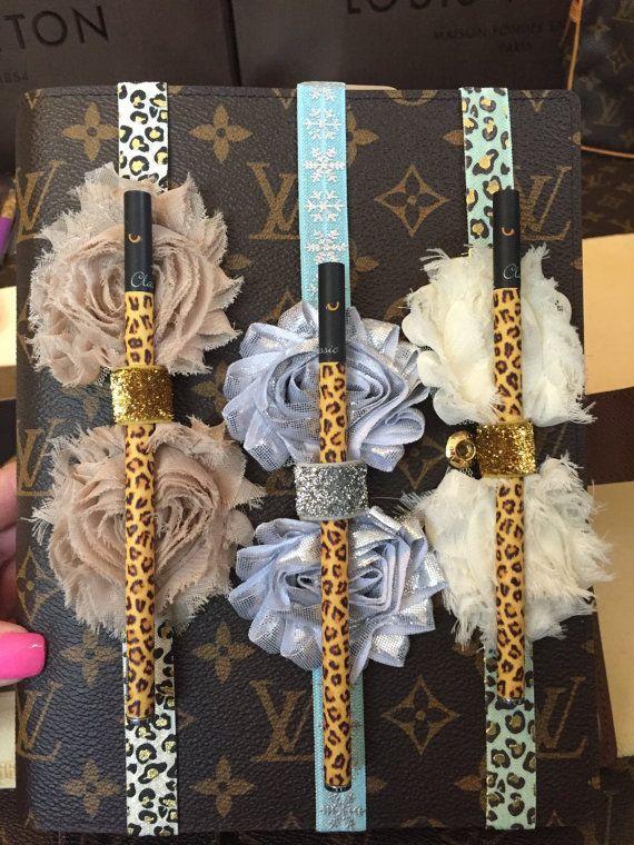 Ordine del giorno Planner penna elastica con passanti - Cipriano Chic stampa fiori GM, dimensioni MM