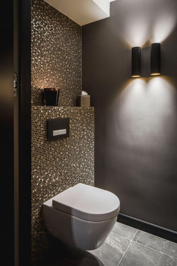 Grosse Atemberaubende Dekoration Badezimmer Schwarz Weiss Gold