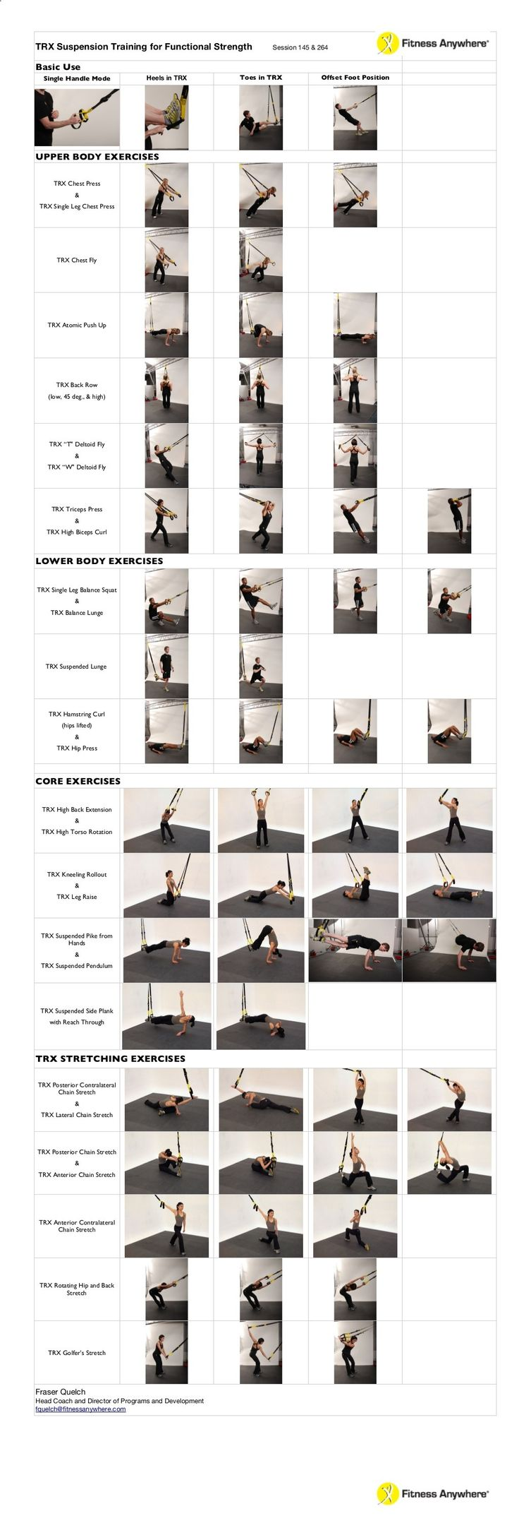 Yoga-Get Your Sexiest Body Ever Without - TRX Suspension Training for Functional Strength Session 145  264 Basic Use Single Handle Mode Heels in TRX UPPER BODY... - Get your sexiest body ever without,crunches,cardio,or ever setting foot in a gym