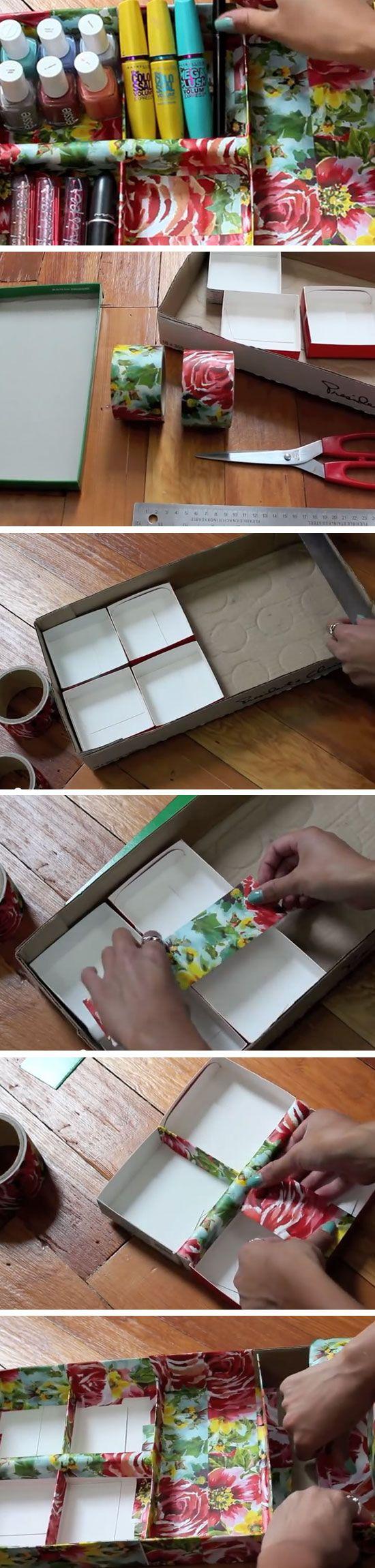 Cardboard + Tape | Sneaky Storage Ideas for Teen Girls Room