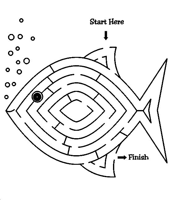 Fish Maze for Jonah of Fishers of Men