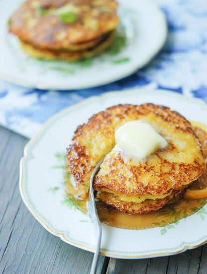 Cornmeal Pancakes: Cornmeal Recipes, Food And Drink, Dinners Recipes, Savory Tarts Recipes, Cornmeal Savory, Cornmeal Pancakes, Gluten Free, Maple Syrup, Breakfast Brunch