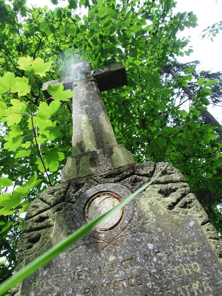 Cross for memory of local family son, who´s died on a russion front in WW I.st in 1917, and is builded on his favorite place, what He loved before war....south Bohemia near Červená Lhota
