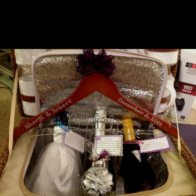 Wedding Night Basket Ideas: A Bridal Shower Gift Basket: First Christmas Ornament Made
