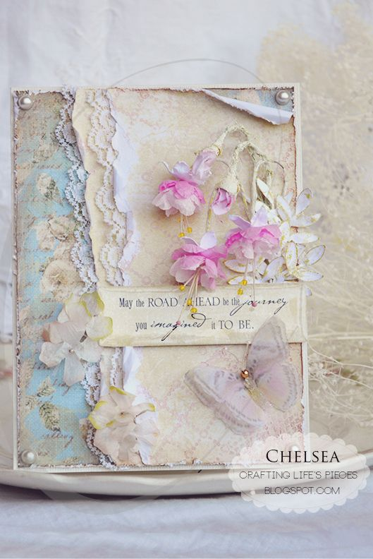 shabby chic floral card