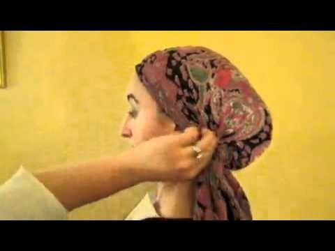 How to wear a Tichel/Mitpachat - Jewish Hair covering - Jewish Modesty