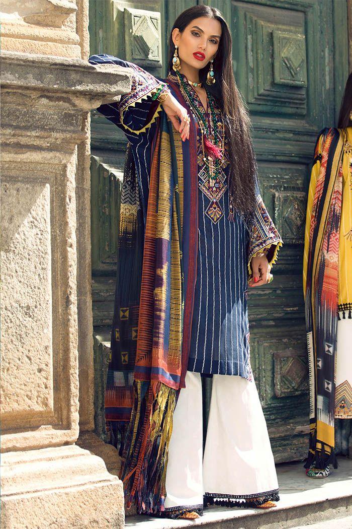 22e7c90861 Buy Unstitched Elan Casual 3 Piece Lawn Suit | Elan Online Store in Pakistan  | Lawn suits, Pakistani dresses, Designer punjabi suits