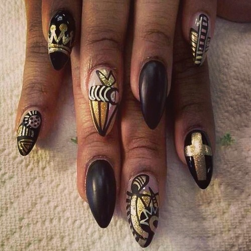 54 best african images on pinterest nail scissors nail art lve the nail picaso black and gold nails nail swag nail porn nail tribal nail designstribal nailsafrican prinsesfo Images