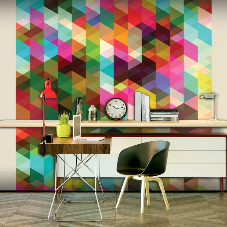 tapeta kolorowa geometria - Einfache Dekoration Und Mobel Photocircle Fotokunst Fuer Den Guten Zweck